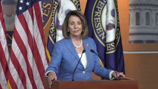 house minority leader nancy pelosi of california says to a question that some democrats have blamed her for the loss in a georgia special election... - nancy pelosi stock videos and b-roll footage