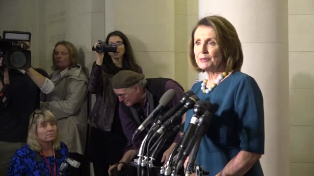 house minority leader nancy pelosi of california speaks to reporters after a leadership election of the house democratic caucus for the 115th... - nancy pelosi stock videos and b-roll footage