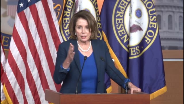 House Minority Leader Nancy Pelosi of California tells reporters during a weekly briefing that a bill before the House relating to financial fraud...