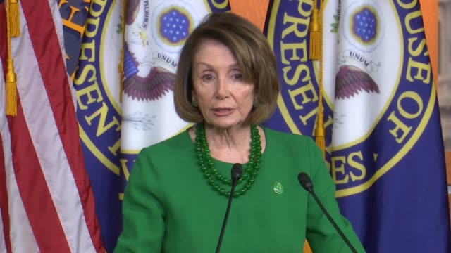 House Minority Leader Nancy Pelosi of California tells reporters at a weekly press conference that bills were introduced to cut off arm sales to...