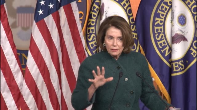 House Minority Leader Nancy Pelosi of California tells reporters at a weekly briefing that she hopes emergency supplemental funding requests to deal...