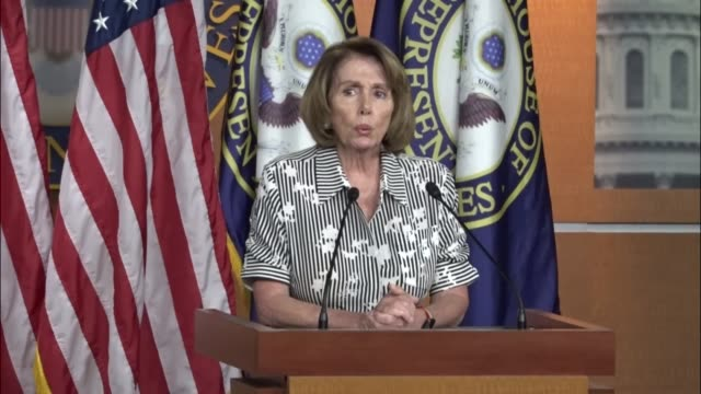 House Minority Leader Nancy Pelosi of California tells reporters at a weekly briefing that Democrats intend to defeat the socalled skinny repeal...