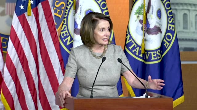 house minority leader nancy pelosi of california tells reporters at a weekly briefing that it was quite a week a day after early voting in a primary... - national security agency usa stock videos and b-roll footage