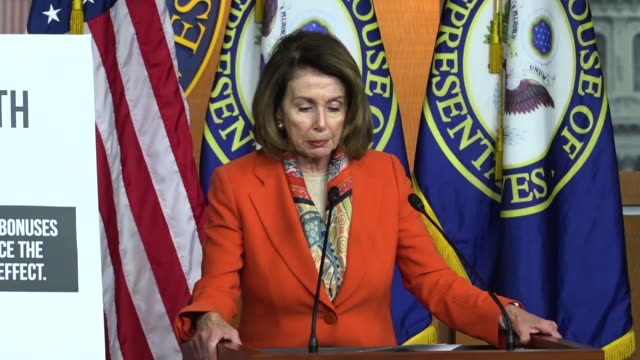 house minority leader nancy pelosi of california tells reporters at a weekly briefing that while the gop gives tax breaks to wall street, their... - farm to table stock videos & royalty-free footage