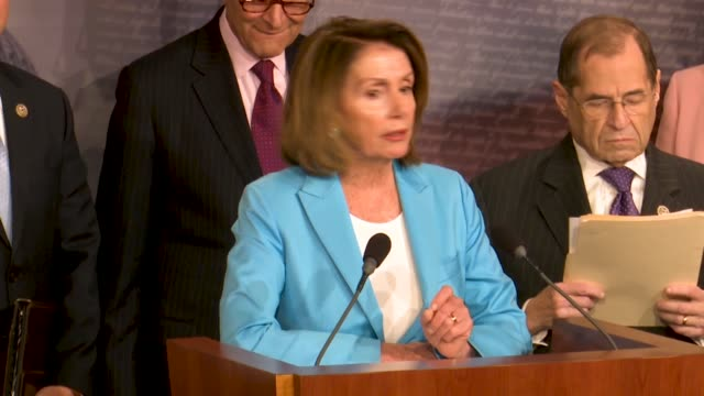 house minority leader nancy pelosi of california tells reporters at a news conference hours after justice department inspector general michael... - department of justice stock videos & royalty-free footage