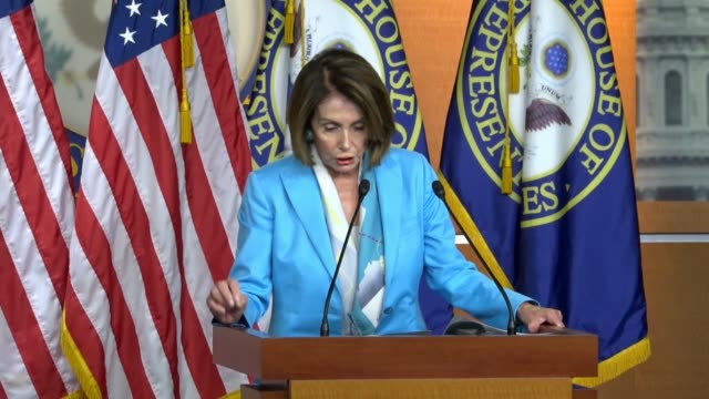 house minority leader nancy pelosi of california tells reporters that three technology vendors provide 92 percent of united states voting machines, a... - vulnerability stock videos & royalty-free footage