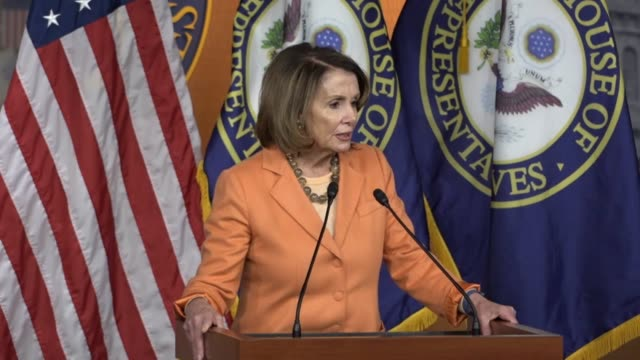 house minority leader nancy pelosi of california tells reporters that the reason democrats have been saying attorney general jeff sessions should... - surrogate stock videos & royalty-free footage