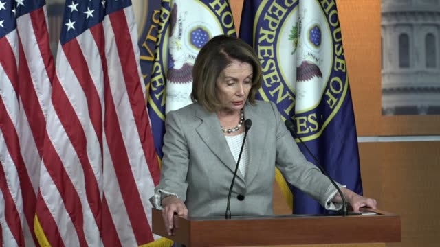 House Minority Leader Nancy Pelosi of California tells reporters that the allegations against Congressman John Conyers very serious disappointment...