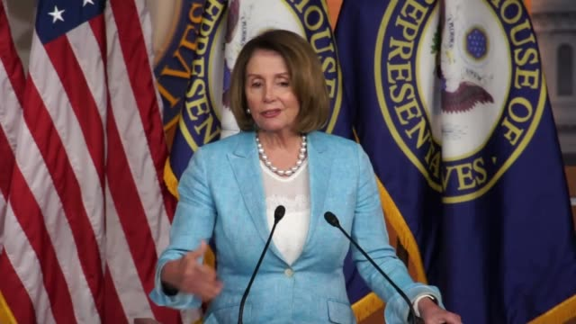 House Minority Leader Nancy Pelosi takes questions from reporters at a weekly briefing Asked waning campaign of Senator Bernie Sanders Pelosi...