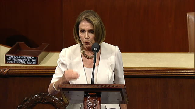 vídeos y material grabado en eventos de stock de house minority leader nancy pelosi talks about the innocent bystanders of congress' war on the middle class. - (war or terrorism or election or government or illness or news event or speech or politics or politician or conflict or military or extreme weather or business or economy) and not usa