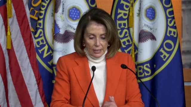 house minority leader nancy pelosi tells reporters at a weekly briefing that president donald trump continued an allout campaign to obstruct the... - generalstaatsanwalt stock-videos und b-roll-filmmaterial