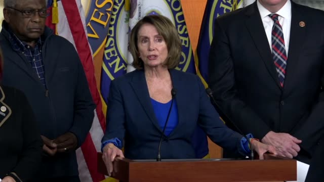 house minority leader nancy pelosi tells reporters the morning after the 2018 state of the union address that it was transformative because... - crisis stock videos & royalty-free footage