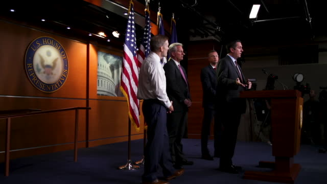 house minority leader rep. kevin mccarthy , ranking member of house judiciary committee rep. doug collins , ranking member of house intelligence... - rca stock videos & royalty-free footage