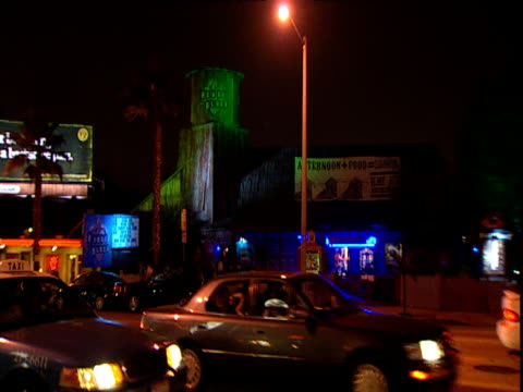 House of Blues night club illuminated by coloured lighting Sunset Strip Los Angeles