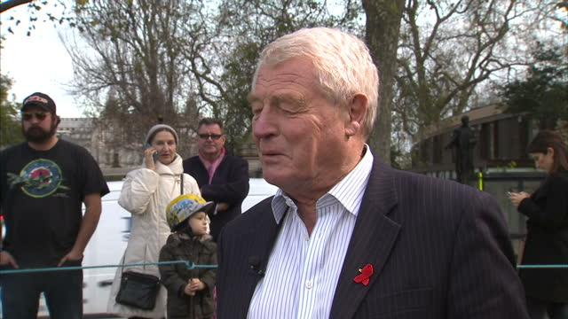 house of commons votes on air strikes in syria shows exterior shots lord paddy ashdown speaking about the prime minister calling all those who oppose... - paddy ashdown stock-videos und b-roll-filmmaterial