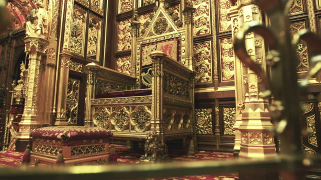 house of lords interior - politics background stock videos & royalty-free footage