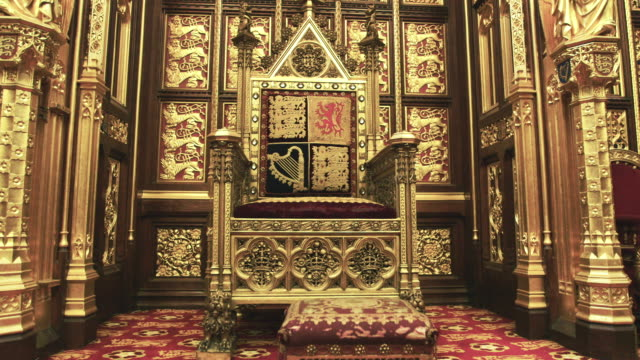 house of lords interior - elegance stock videos & royalty-free footage