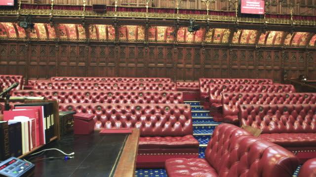 vídeos de stock e filmes b-roll de house of lords interior - eco