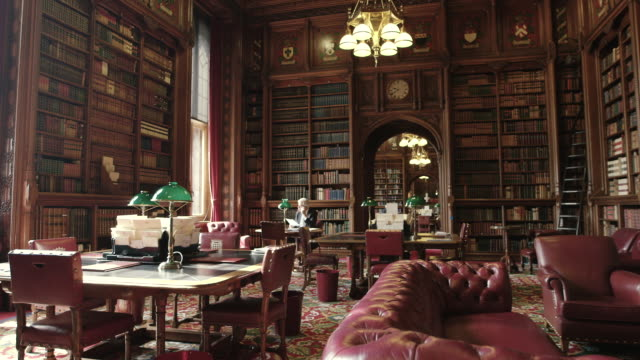house of lords interior - statue stock-videos und b-roll-filmmaterial