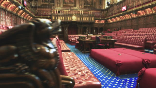 house of lords interior - uk video stock e b–roll