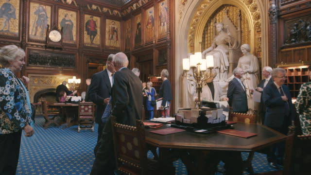 house of lords interior, westminster, uk - talking politics stock videos & royalty-free footage