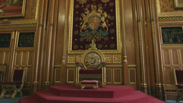house of lords interior, westminster, uk - politics background stock videos & royalty-free footage
