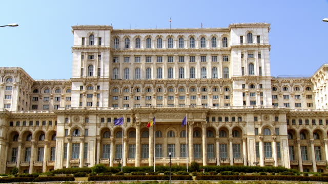 House of People  the worlds largest and most expensive civilian administrative structure built with egomaniacal obsession by Romania  communist dictator  Ceausescu between 1984 and 1989 and still not completed to this day