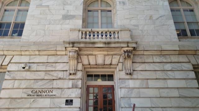 u.s. house of representatives cannon office building in washington, dc - legislator stock videos & royalty-free footage