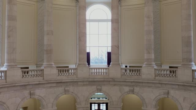 u.s. house of representatives cannon office building rotunda in washington, dc - legislator stock videos & royalty-free footage