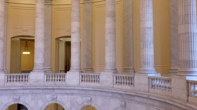 u.s. house of representative cannon office building rotunda in washington, dc - united states congress stock-videos und b-roll-filmmaterial