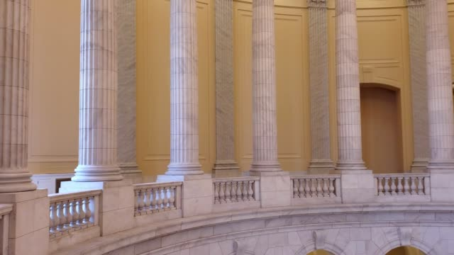 u.s. house of representatives cannon office building rotunda in washington, dc - house of representatives stock videos & royalty-free footage