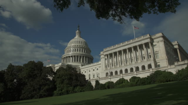 House of Representatives side of the U.S. Capitol West in Washington, DC - 4k/UHD