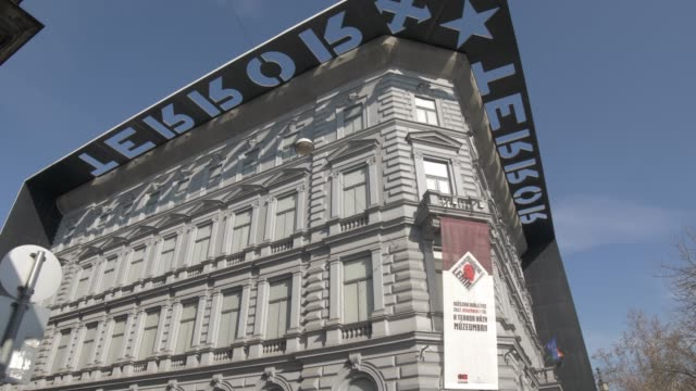 House of Terror on Andrassy during winter, Budapest, Hungary, Europe