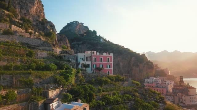 House on a Cliff by Dawn, Amalfi Coast