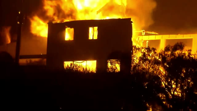 house on fire in westlake village california - westlake village california stock videos & royalty-free footage