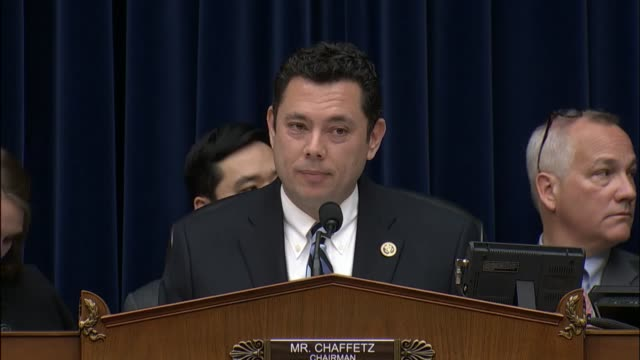 house oversight and government reform committee chairman jason chaffetz begins a hearing of this committee to inquire into the mass media messaging... - verification stock videos & royalty-free footage