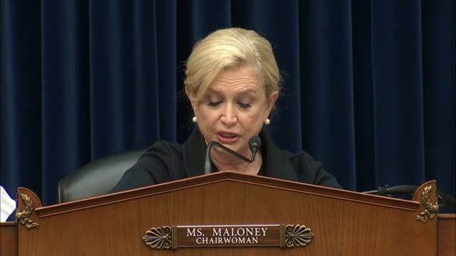 house oversight and reform committee chairwoman carolyn maloney of new york says beginning a series of hearings with pharmaceutical executives that... - beneficiary stock videos & royalty-free footage