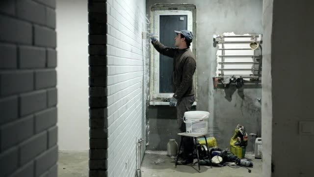 house painter. - decorating stock videos & royalty-free footage