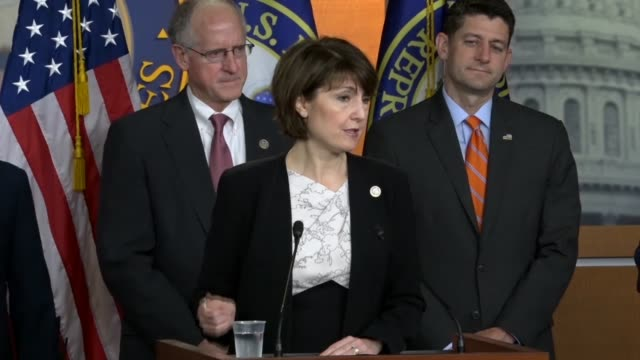 house republican conference chair cathy mcmorris rodgers says at a weekly press briefing that there were lots of scare tactics and false information... - food stamps stock videos & royalty-free footage