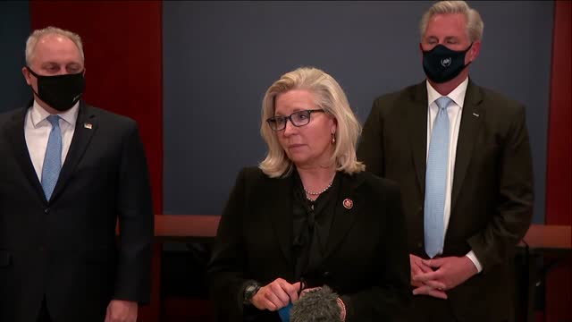 house republican conference chair liz cheney of wyoming tells reporters after an hours long meeting to discuss her fate as conference chair for... - wyoming stock videos & royalty-free footage