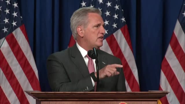 stockvideo's en b-roll-footage met house republican leader kevin mccarthy of california acting as chairman of the 2020 republican national convention in charlotte says party chair... - voorzitter