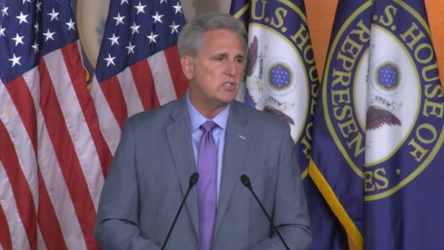 house republican leader kevin mccarthy of california is asked by a reporter at a weekly news conference a day after the first public impeachment... - vulnerability stock videos & royalty-free footage