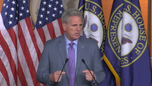 house republican leader kevin mccarthy of california is asked by reporter at a weekly news conference a day after the first public impeachment... - veterans day stock videos & royalty-free footage