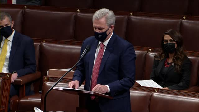 house republican leader kevin mccarthy of california says in debate on a second impeachment of president donald trump for high crimes and... - only young men stock videos & royalty-free footage