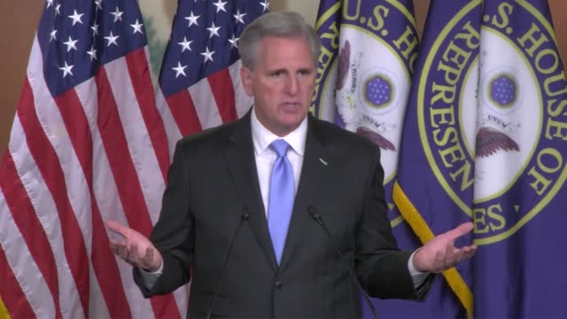 house republican leader kevin mccarthy says at a weekly news conference that there were more women running in the republican party for congress than... - history点の映像素材/bロール