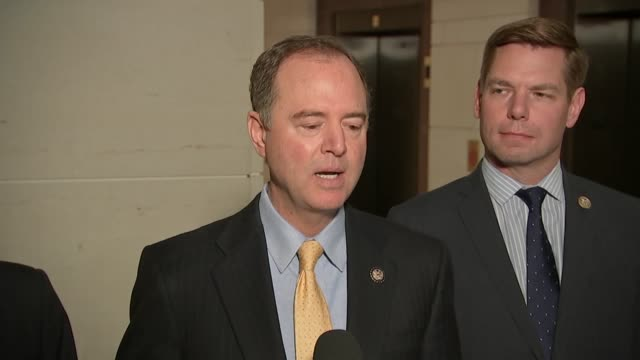 house select intelligence committee chairman adam schiff is asked after trump administration official charles kupperman sought the ruling of a judge... - dominanz stock-videos und b-roll-filmmaterial