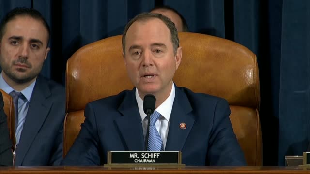 house select intelligence committee chairman adam schiff of california asks former us ambassador to ukraine marie yovanovitch at the second... - donald trump us president stock videos and b-roll footage