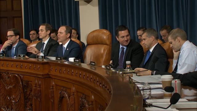 house select intelligence committee chairman adam schiff of california says in his closing statement after testimony by witnesses fiona hill and... - big tech stock videos & royalty-free footage