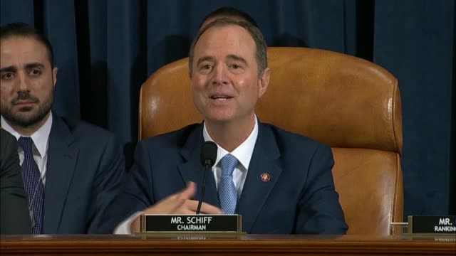 house select intelligence committee chairman adam schiff of california says in his closing statement after testimony by witnesses fiona hill and... - the all american rejects stock videos & royalty-free footage