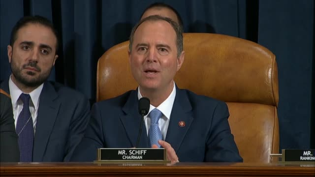 stockvideo's en b-roll-footage met house select intelligence committee chairman adam schiff of california says in his closing statement after testimony by witnesses fiona hill and... - reiken